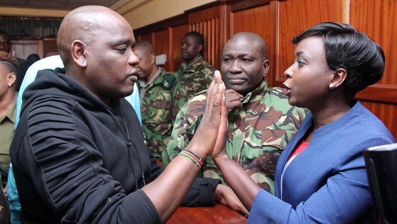 Itumbi and Maribe in court (Courtesy)