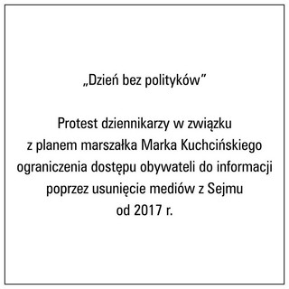 #DzieńBezPolityków czyli protest dziennikarzy