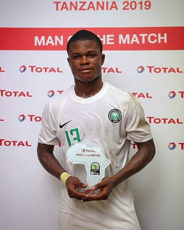 Akinwunmi Amoo was the Man of the Match in Nigeria's first game of the tournament (CAF)