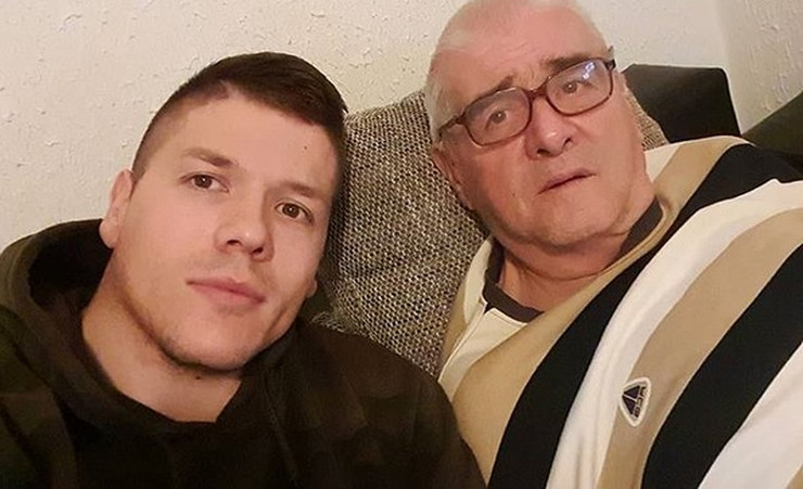 Sloba Radanović, otac Dušan