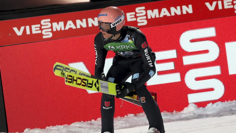 Karl Geiger w 2. serii konkursu indywidualnego podczas mistrzostw świata w lotach narciarskich