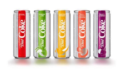 Nowa Diet Coke trafi na razie na rynek amerykański