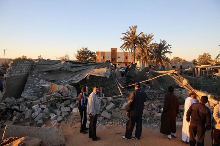Libija Sabrata vazdusni napad foto Tanjug AP_01