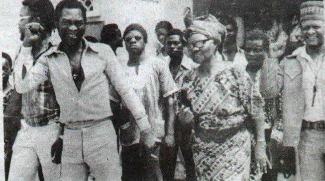 Fela and his mum,Funmilayo Ransome-Kuti a leading woman activist in Nigeria