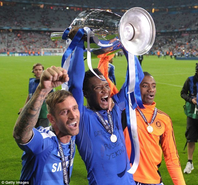 John Obi Mikel played with Chelsea in the 2012 Champions League final