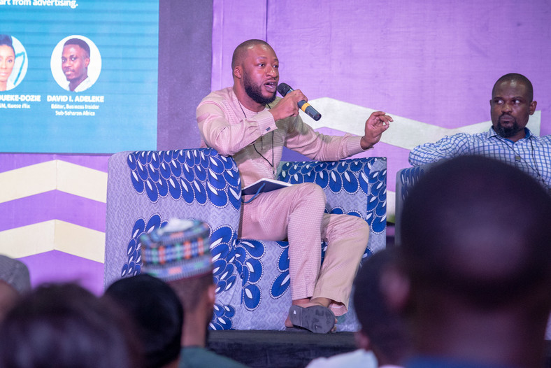 Soji Ogundoyin, Co-founder at S&T Media at the Business Insider by Pulse session at the Social Media Week Lagos 2019 Ltd
