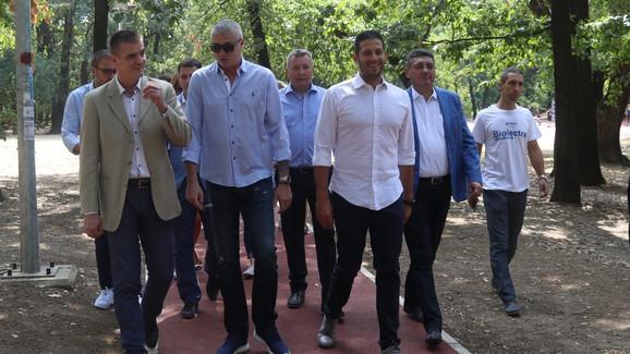 Predrag Peruničić, Predrag Danilović i Vanja Udovičić u Košutnjaku
