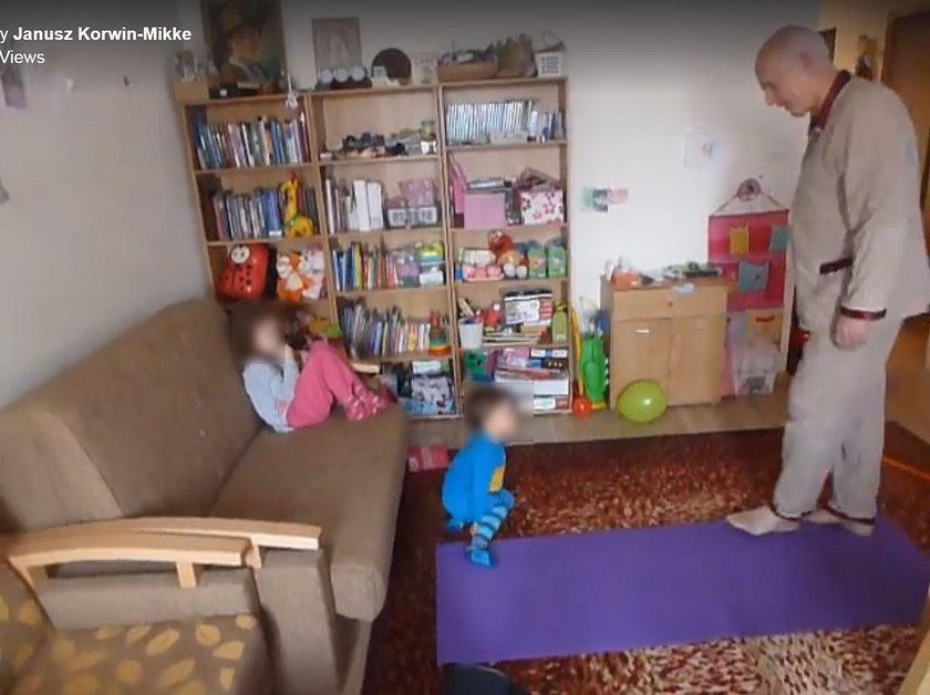 Janusz Korwin Mikke i jego najmłodsze dzieci