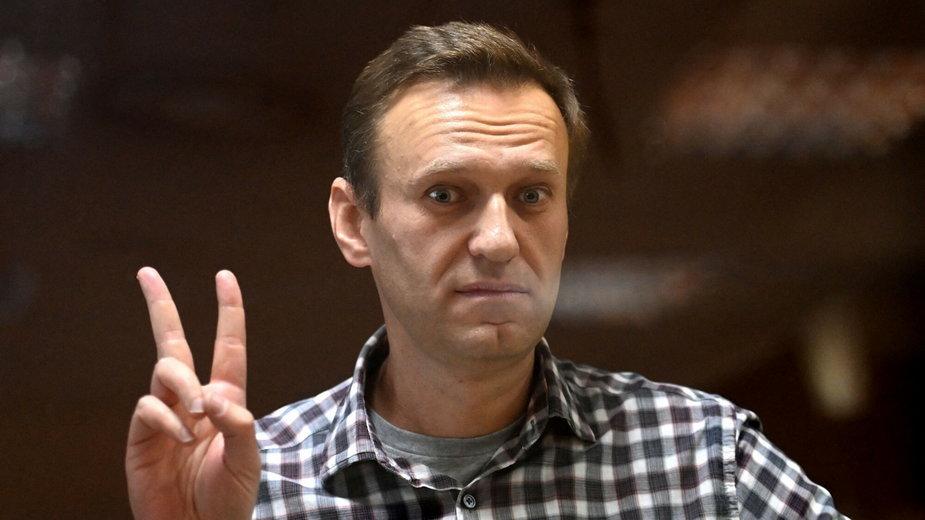 Aleksiej Nawalny w moskiewskim sądzie