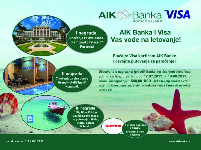Uz AIK Banku i Visu do luksuznog putovanja i hotela sa pet zvezdica!