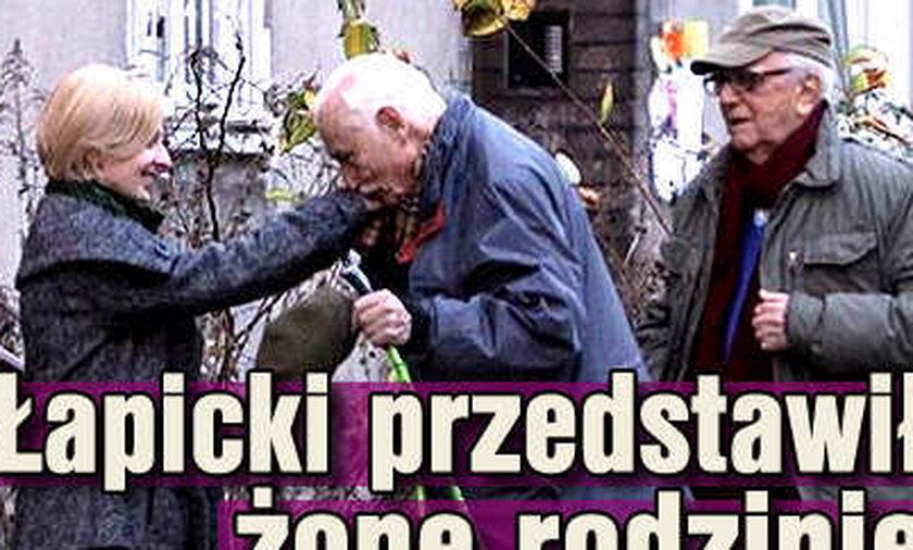 Andrzej Łapicki przedstawił żonę rodzinie