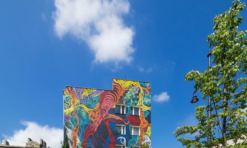 Mural 3 D w Łodzi