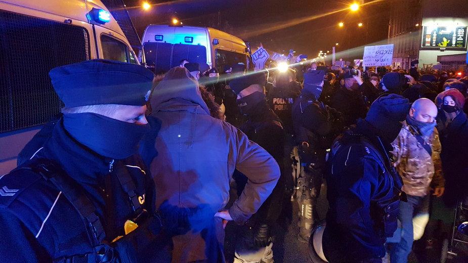 Z powodu protestu utrudnienia w ruchu w Łodzi