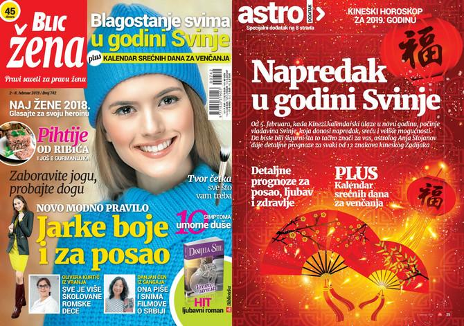 "Nova ""Blic žena"" na kioske stiže od subote 2. februara"