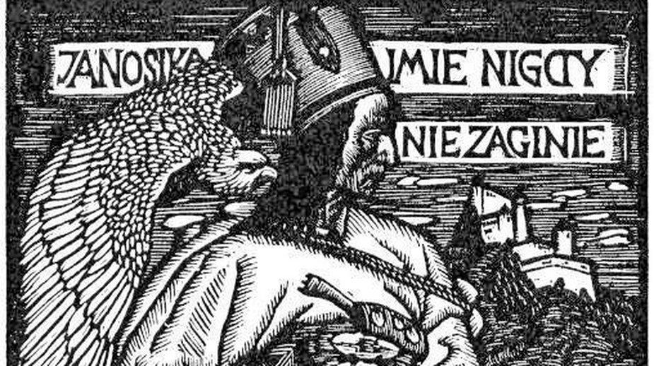 """Drzeworyt """"Janosik"""" autorstwa Władysława Skoczylasa, domena publiczna"""