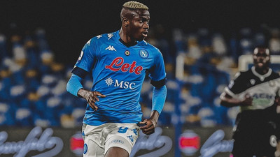 Victor Osimhen failed to score but had a good game as Napoli win to go second in Serie A