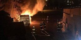 Busy spłonęły w Opolu