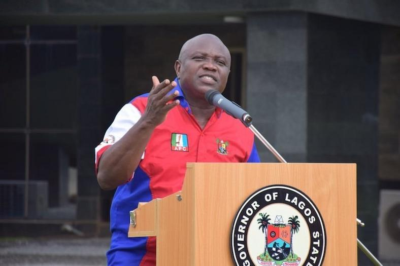 Governor Akinwunmi Ambode of Lagos made a mess of himself on international television in October (ChannelsTV)