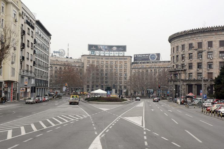 prazne ulice Trg Nikole Pasica foto Milan Ilic
