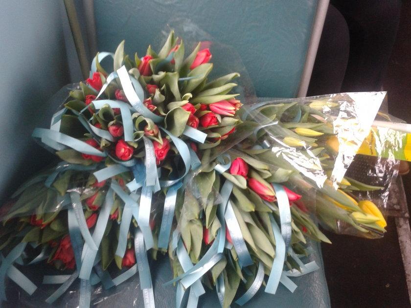 Tulipany w tramwaju