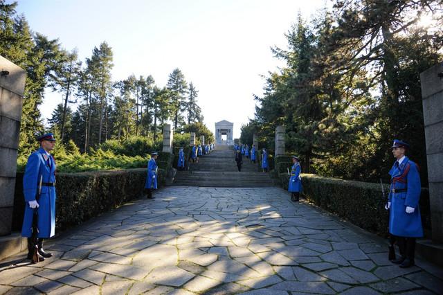 Neposredna okolina kompleksa Groba neznanog junaka na Avali okružena je četinarima, darom nikog drugog do samog Adolfa Hitlera