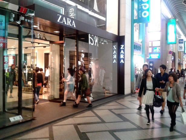 Sklep Zara w Osace, fot. Jan Banowski