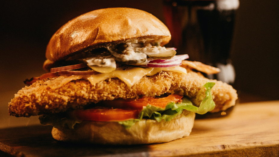Szybki drobiowy burger