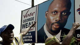 George Weah has been  president of Liberia since 2018 Creator: ISSOUF SANOGO