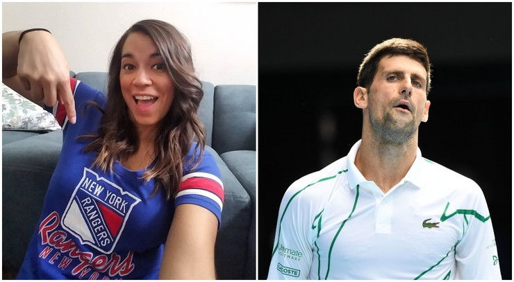 Pamela Maldonado i Novak Đoković