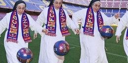 Zakonnica na stadionie Barcelony!