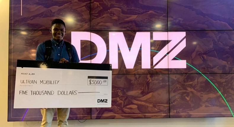 Raphael Mwachiti, a student at the Aga Khan Academy, Mombasa, has won the Ryerson Sandbox Basecamp prize. (courtesy)