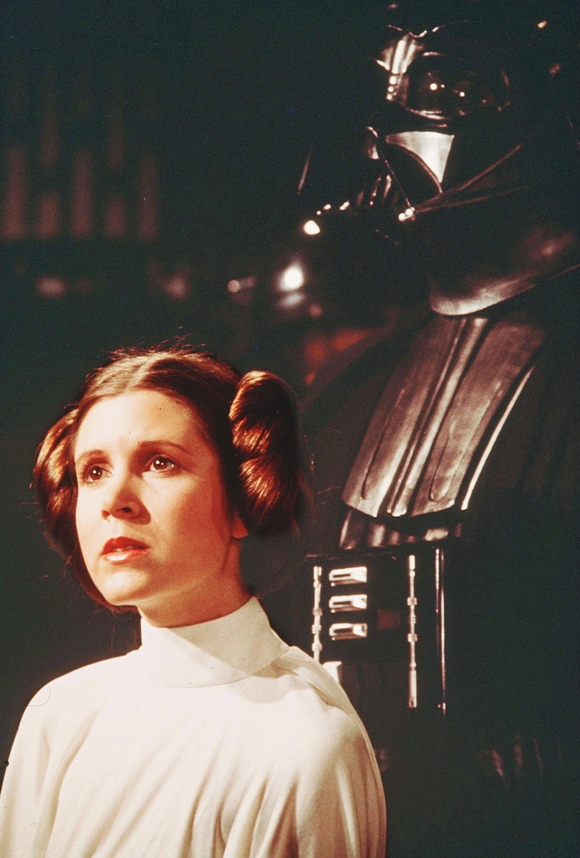 Carrie Fisher i Lord Vader