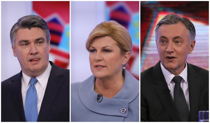 Zoran Milanovič, Kolinda Grabar Kitarović i Miroslav Škoro