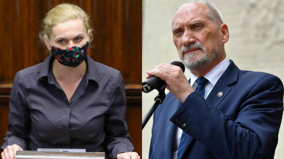 Barbara Nowacka i Antoni Macierewicz