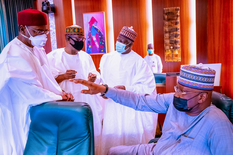 President Buhari holds meeting with former Heads of State on Friday, October 23, 2020 (Presidency)