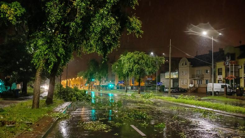 Zniszczenia po burzy, która przeszła nad Płockiem