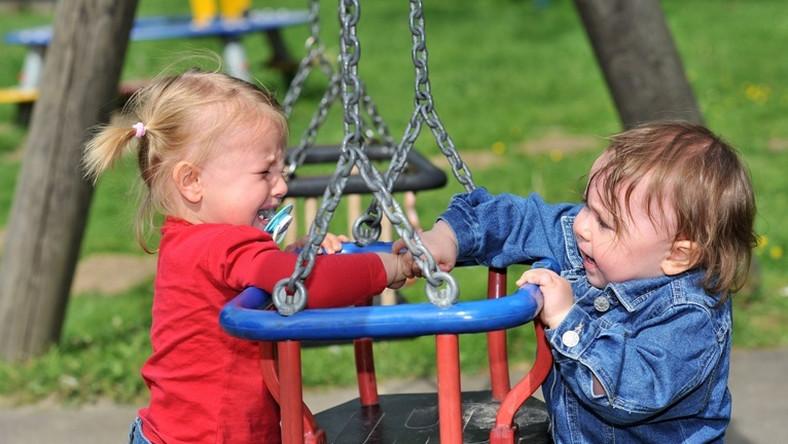 dzieci, zabawa, kłótnia, huśtawka, płacz, konflikt, plac zabaw/ fot. Fotolia
