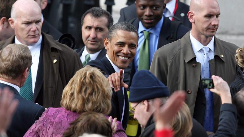 25 tysięcy ludzi witało prezydenta USA w Dublinie