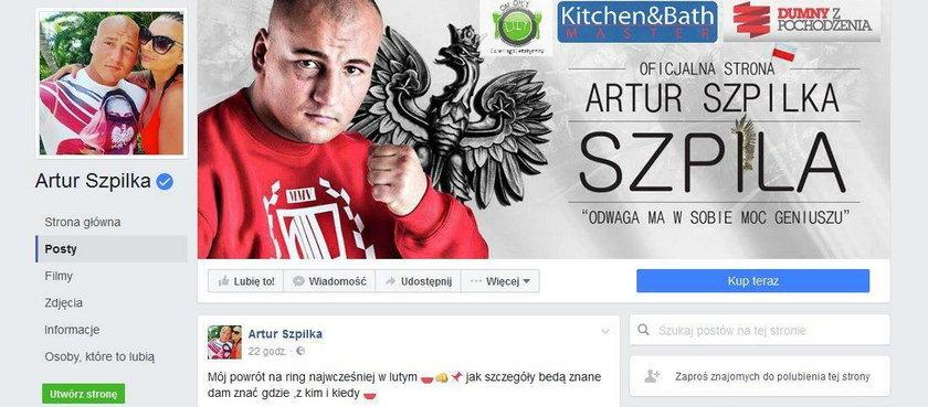 Artur Szpilka zapowiedział swój powrót do boksu. Walka w lutym