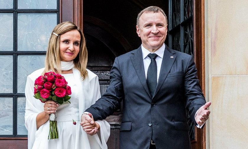 Jacek Kurski z żoną
