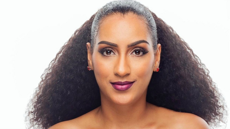 Juliet Ibrahim modelling for her own lash line called Shade by Juliet [Credit: www.dailypost.ng]
