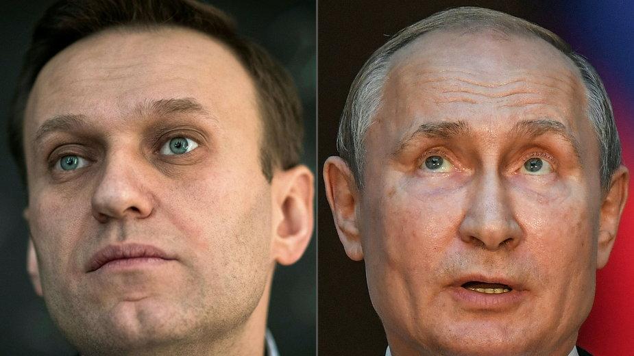Aleksiej Nawalny (z lewej) od wielu lat krytykuje rządy Władimira Putina w Rosji