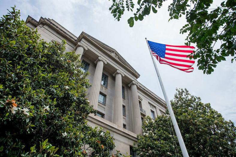 US Department of Justice building. (NPR)