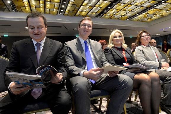Aleksandar Vučić, Ivica Dačić i Zorana Mihajlović na današnjoj konferenciji