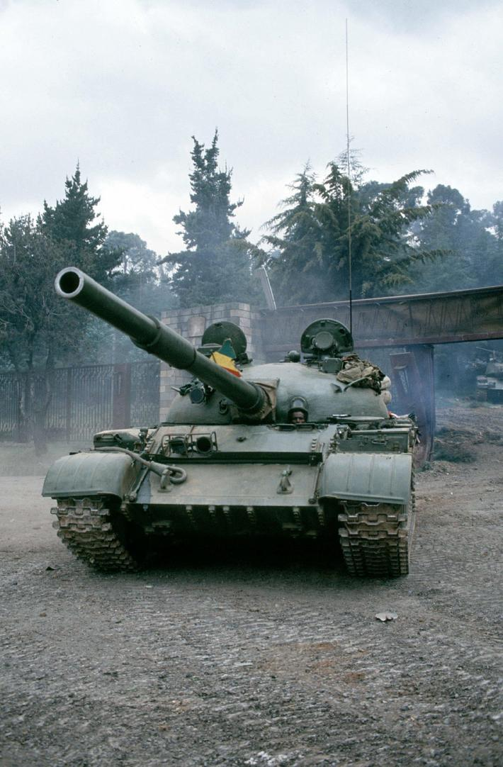 Fall of Addis Ababa (Ethiopia). Soviet tank T 54 o