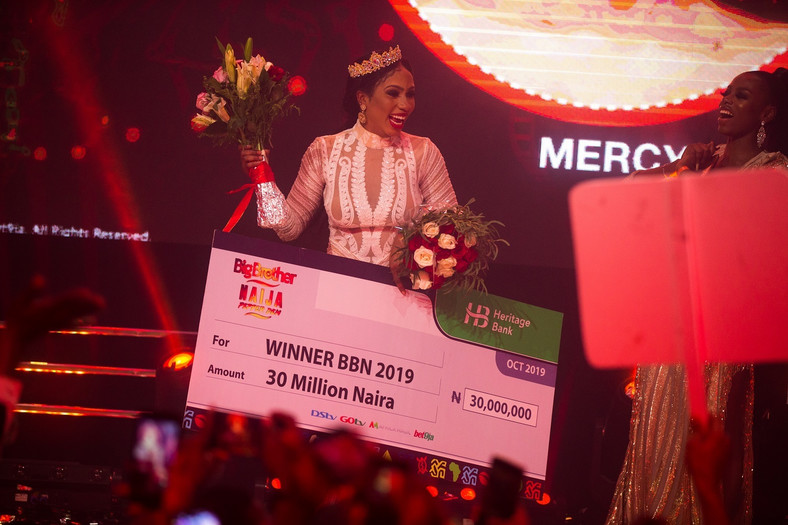 Mercy has emerged the winner of the BBNaija 2019 tagged Pepper Dem after spending 99 days in the house. [Multichoice]