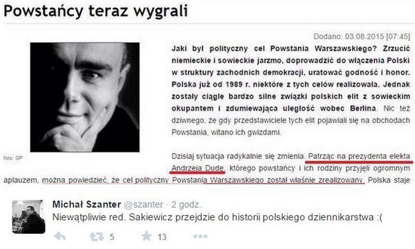 Szokujące słowa o Powstaniu Warszawskim