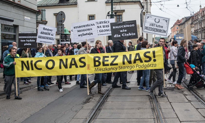 Protest na Krakowskiej