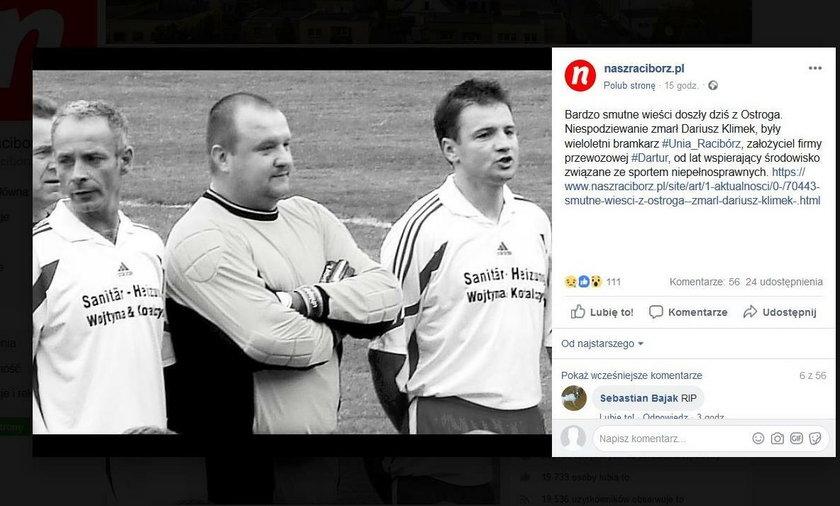 W poniedziałek zmarł 50-letni Dariusz Klimek