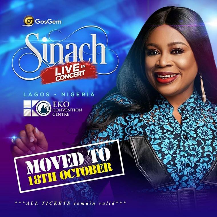 Sinach postpones Sinach Live In Concert. (Ariiya Tickets)